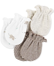 Baby Boys & Girls 3-Pk. Cotton Mitts