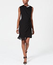 Draped Solid Dress