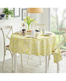 "Elrene Chase Geometric Stain Resistant Indoor Outdoor 70"" Round Tablecloth"