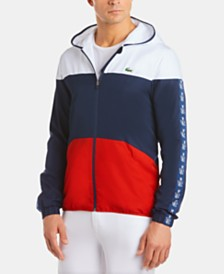 Lacoste Men's Colorblocked Diamond Taffeta Jacket