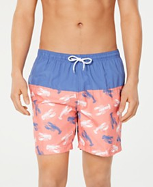 "Trunks Surf & Swim Co. Men's Lobster Colorblocked 6"" Board Shorts"