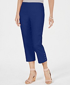 Petite Button-Hem Capri Pants, Created for Macy's