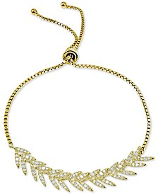 Giani Bernini Cubic Zirconia Vine Bolo Bracelet in 18k Gold-Plated Sterling Silver, Created for Macy's