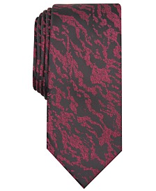 I.N.C. Men's Grant Zebra Abstract Skinny Tie, Created for Macy's