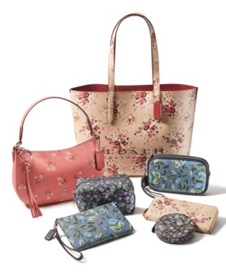 Floral Print Leather Sutton Crossbody