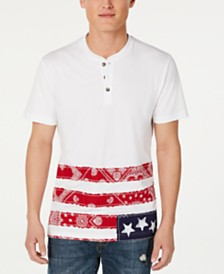 American Rag Men's Bandana Henley, Created for Macy's