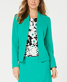 Nine West Kiss-Front Jacket