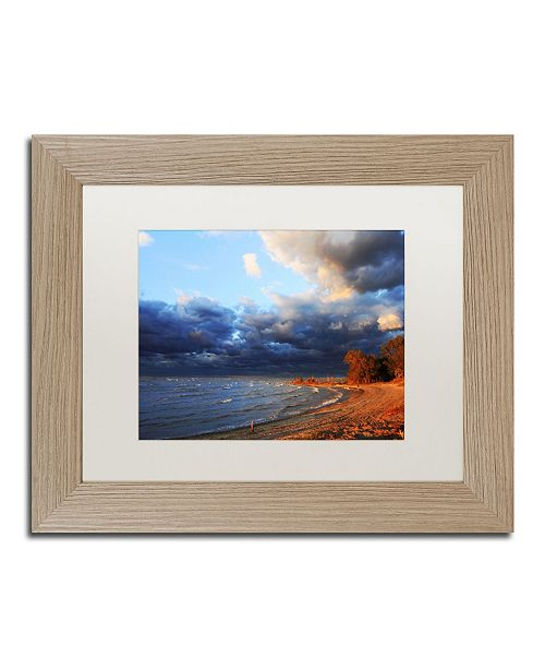 "Trademark Global Jason Shaffer 'Lake Erie Autumn' Matted Framed Art - 14"" x 11"""