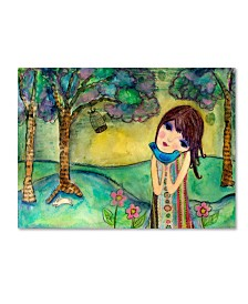 "Wyanne 'Big Eyed Girl Free To Love' Canvas Art - 14"" x 19"""