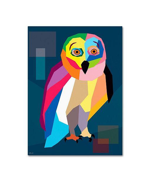 "Trademark Global Mark Ashkenazi 'Owl Wpap' Canvas Art - 14"" x 19"""