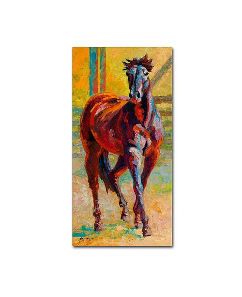 "Trademark Global Marion Rose 'Corral Boss' Canvas Art - 10"" x 19"""