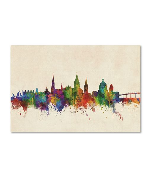 "Trademark Global Michael Tompsett 'Annapolis Maryland Skyline' Canvas Art - 12"" x 19"""