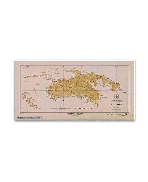 "Trademark Global Lantern Press 'Map 13' Canvas Art - 12"" x 24"""