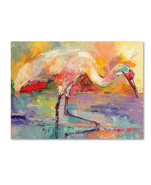 "Trademark Global Richard Wallich 'Art Crane' Canvas Art - 14"" x 19"""