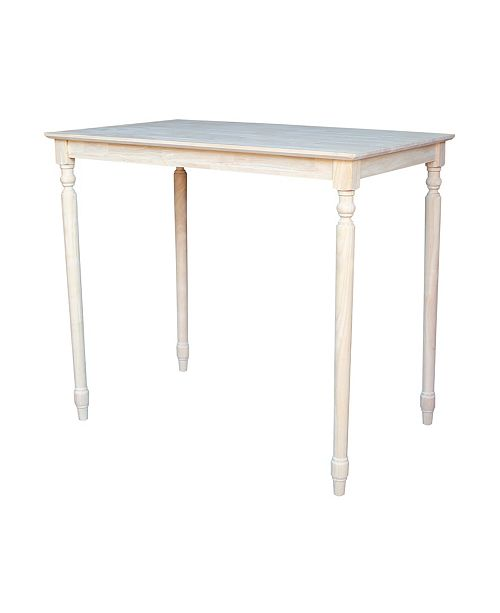 WHITEWOOD INDUSTRIES/INTNL CONCEPTS International Concepts Solid Wood Top Table - Turned Legs