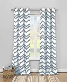 "Vauxhall 40"" x 84"" Chevron Print Curtain Set"