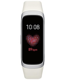 Unisex Galaxy Fit White Elastomer Strap Touchscreen Smart Watch .95""