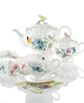 This item is part of the Lenox Dinnerware Butterfly Meadow Gifts Collection  sc 1 st  Macy\u0027s & Lenox Dinnerware Set of 4 Butterfly Meadow Mugs - Glassware ...