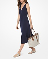 57bd794030 MICHAEL Michael Kors Tie-Shoulder Midi Dress