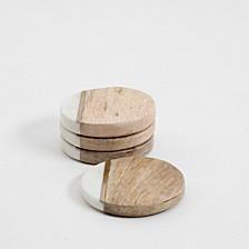 Laurie Gates Brass Stripe Coaster Set
