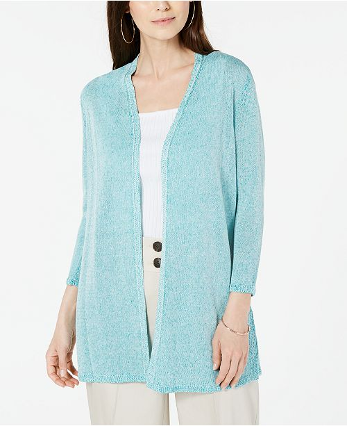 Alfani Marled Knit Open-Front Cardigan, Created For Macy's