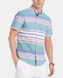 Tommy Hilfiger Men's Custom Fit Palmeiri Striped Shirt