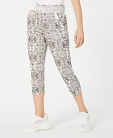 Rewash Juniors' Smocked Cropped Jogger Pants