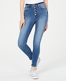 Juniors' Button-Fly High-Rise Skinny Jeans