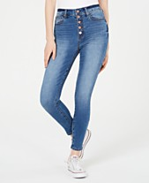 ae7c9469523d0d Celebrity Pink Juniors' Button-Fly High-Rise Skinny Jeans