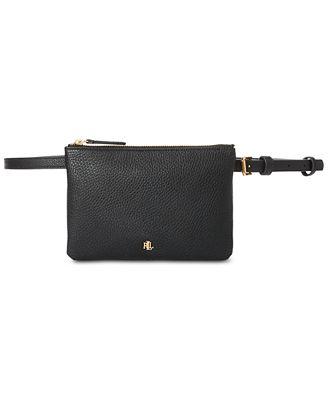 Lauren Ralph Lauren Pebbled Faux Leather Belt Bag