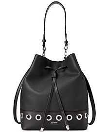 Dryden Debby Grommet Leather Drawstring Bag