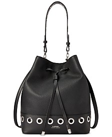 Lauren Ralph Lauren Dryden Debby Grommet Leather Drawstring Bag