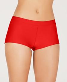 Hula Honey Juniors' Swim Boyshorts Bottoms, Created for Macy's