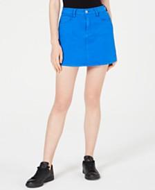 Dollhouse Juniors' Color-Wash Mini Skirt