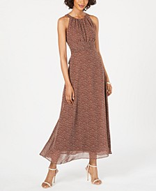 Polka Dot Halter Maxi Dress
