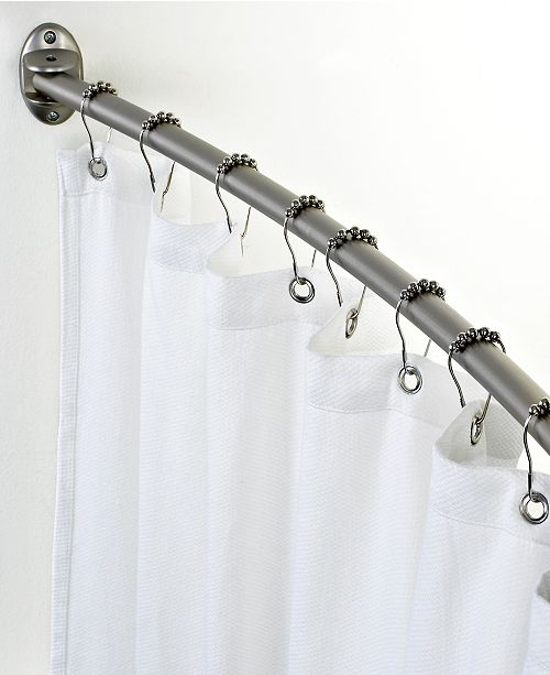 Charter Club Curved Shower Curtain Rod - Bathroom Accessories - Bed ...