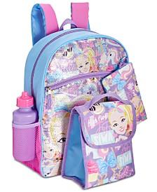 FAB Little & Big Girls 5-Pc. JoJo Siwa Graphic Backpack Set