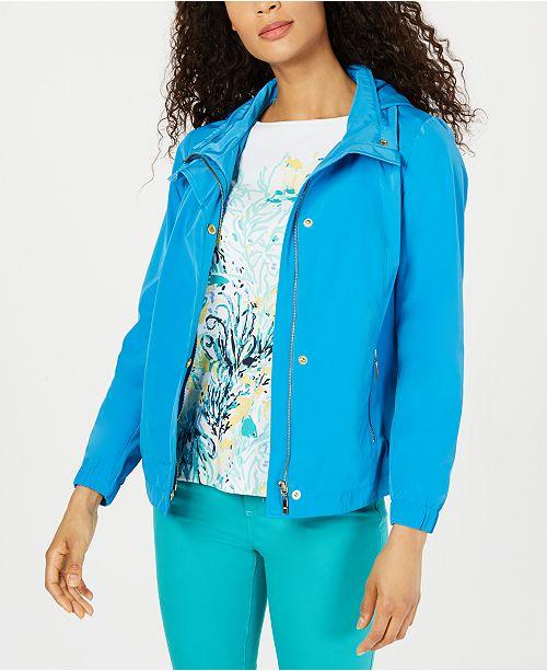 29a38800b ... Charter Club Hooded Raincoat
