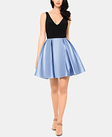 Betsy & Adam Short Fit & Flare Dress