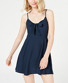 Juniors' Bow Fit & Flare Dress