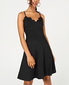 Rosie Harlow Juniors' Scalloped Fit & Flare Dress, Created for Macy's