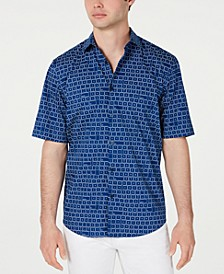 Men's Keyboard-Print Shirt, Created for Macy's