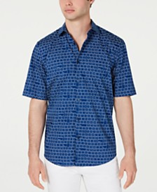 Alfani Men's Keyboard-Print Shirt, Created for Macy's