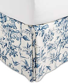CLOSEOUT! Classic Botanical Toile Queen Bedskirt, Created for Macy's