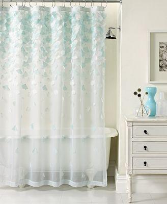 closeout! martha stewart collection falling petals shower curtain