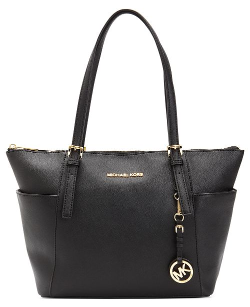 Michael Kors Jet Set Large Crossgrain Leather Tote