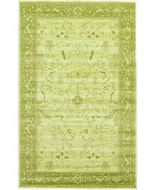 Aldrose Ald4 Light Green 5' x 8' Area Rug