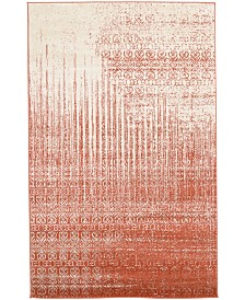 Bridgeport Home Lyon Lyo2 Red 5' x 8' Area Rug