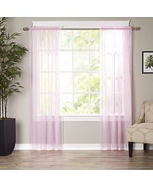 "Elegant Comfort 2-Piece Sheer Window Curtain/Panel with 2"" Rod Pocket - Window Curtains 60"" W x 84"" L"