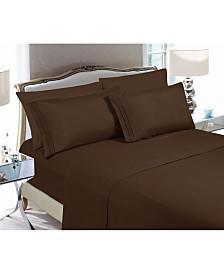 Elegant Comfort 6-Piece Luxury Soft Solid Bed Sheet Set Queen